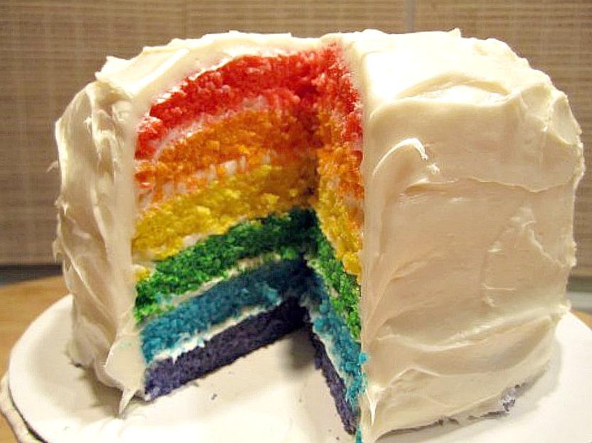 Fabulous Rainbow Layer Birthday Cake Melinda Strauss Birthday Cards Printable Giouspongecafe Filternl