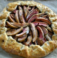 Apple Pecan Galette with Salted Peanut Butter Caramel