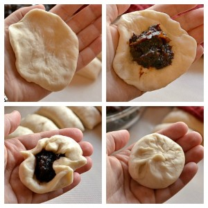 Sweet Steamed Buns- Stuffing and Shaping Buns