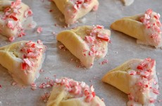 Candy Cane Cheesecake Hamantaschen
