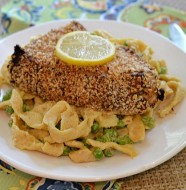 Wasabi Ginger Sea Bass with Homemade Horseradish Pasta