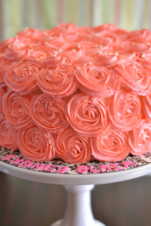 Kitchen Tested Pink Ombre Rose Cake