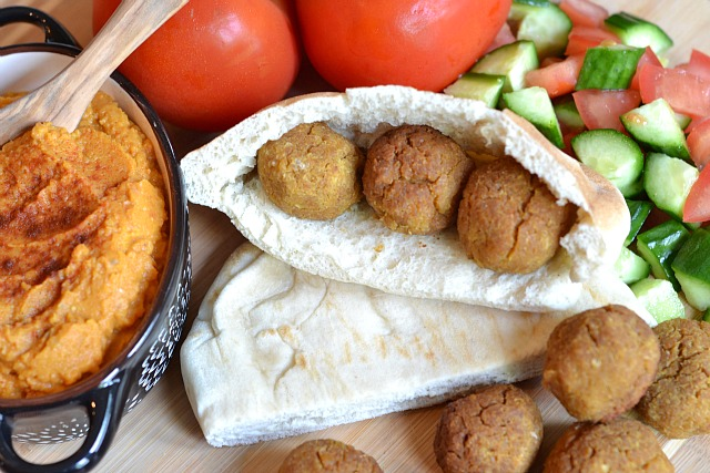 Crock Pot Falafel with Pumpkin Hummus | Kitchen Tested