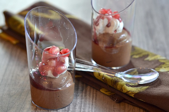 Pomegranate Chocolate Mousse