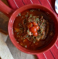 Pulled Barbecue Brisket Soup