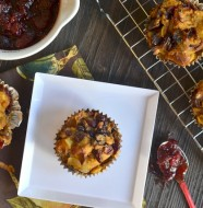 Cranberry Chestnut Challah Stuffing Muffins