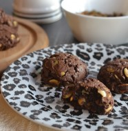 Flourless Spicy Mexican Chocolate Cookies with Roasted Pepitas