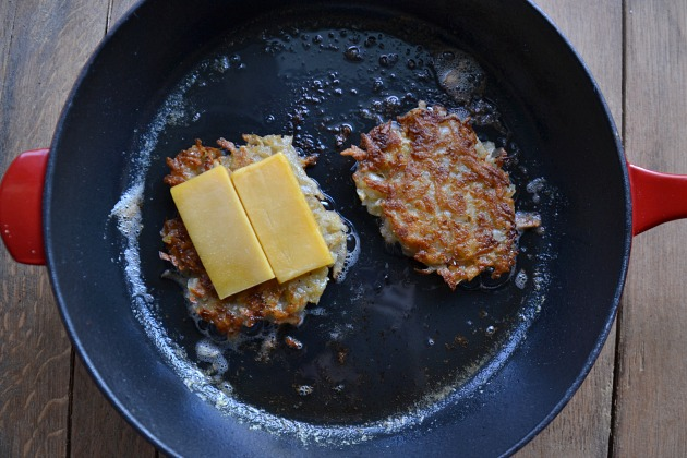 Grilled Cheese Latkes