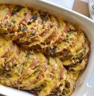Roasted Jalapeno and Cheddar Strata