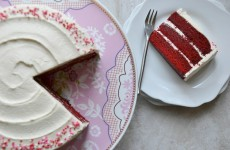 Classic Red Velvet Cake with Old-Fashioned White Frosting