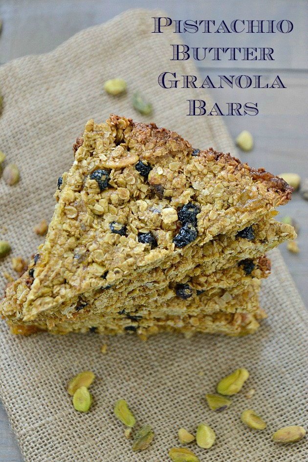 ... – Pistachio Butter Granola Bars with Homemade Pistachio Butter