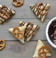 Peanut Butter Chocolate Pretzel Hamantaschen