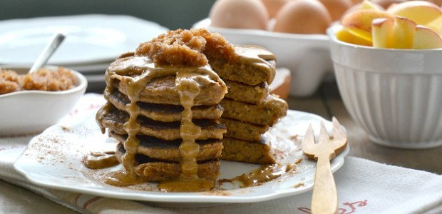 Peanut Butter and Apple Pancakes