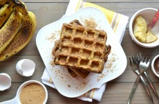 Peanut Butter and Banana French Toast Waffles