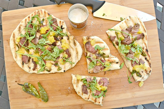 Rose Veal Grilled Pizza