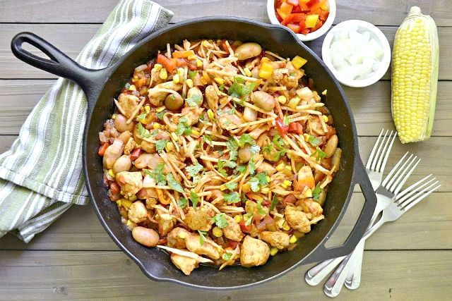 Mexican Skillet Chicken with Jicama Noodles