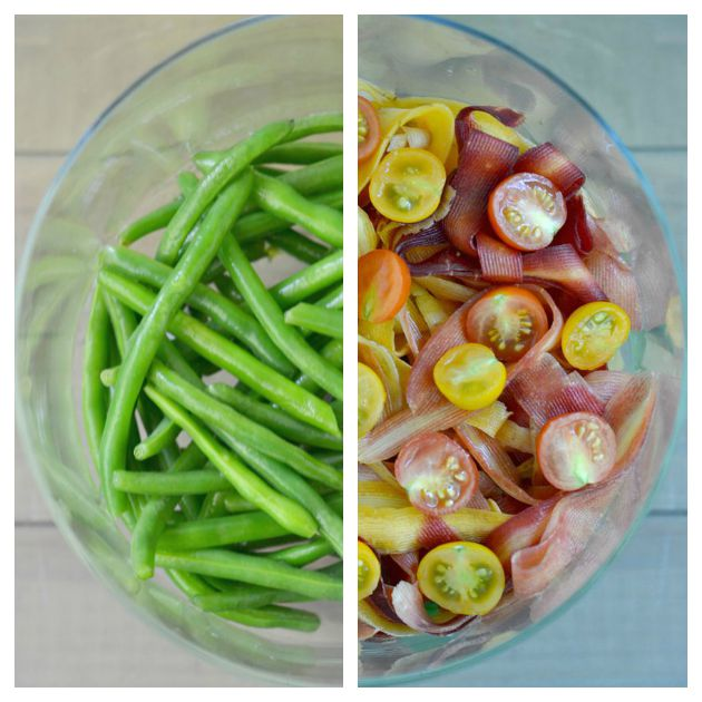 Layered Green Bean and Pickled Carrot Salad