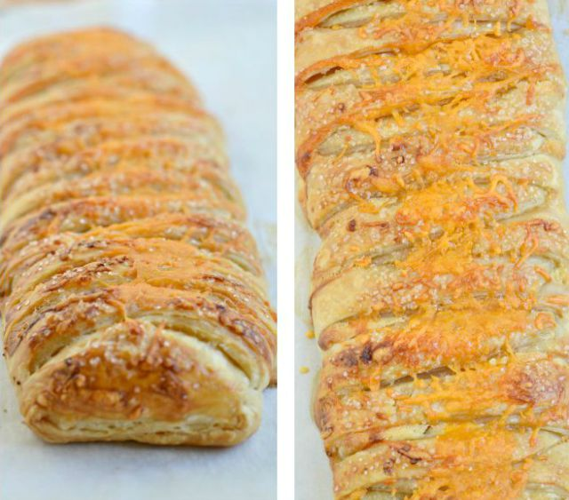 Cheddar & Caramelized Pear Danish
