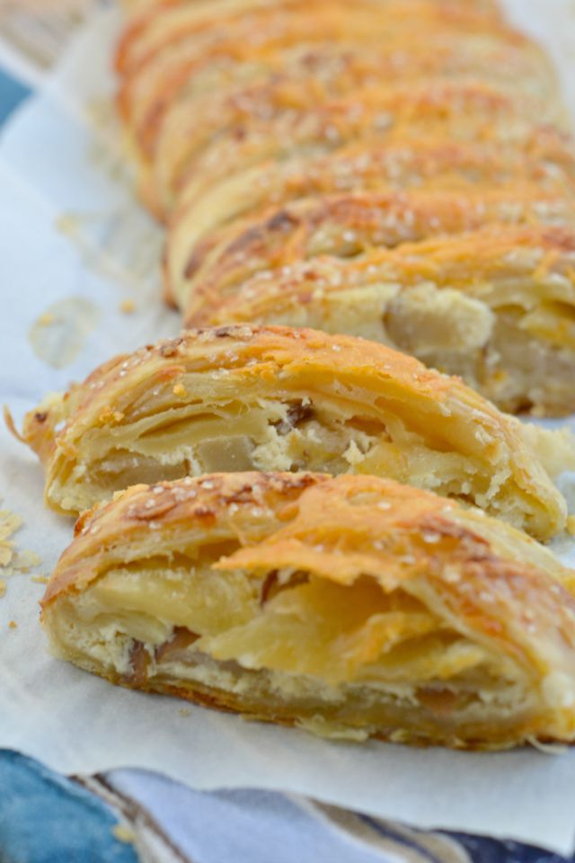 Cheddar and Caramelized Pear Danish