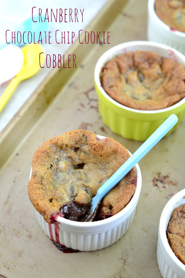 Cranberry Chocolate Chip Cookie Cobbler