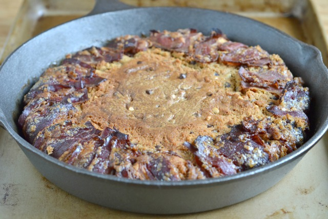Candied Bacon Peanut Butter Cookie Pie