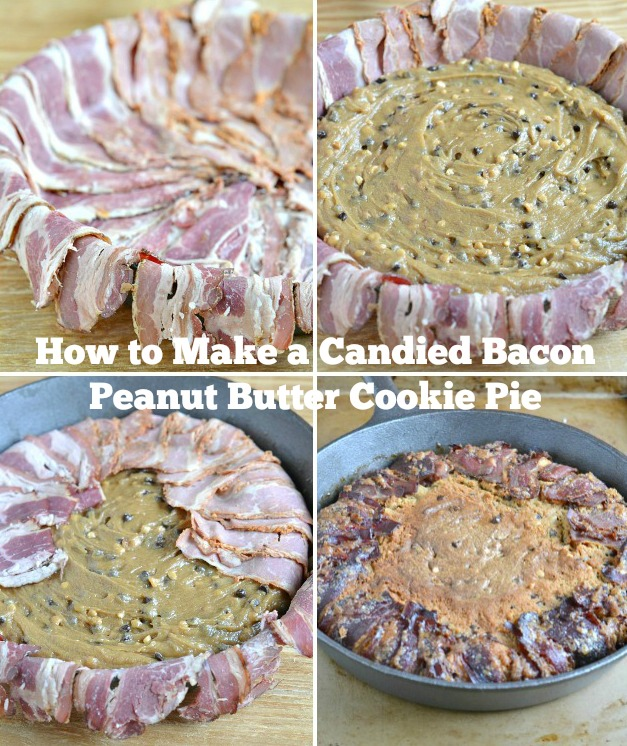 How to Make a Candied Bacon Peanut Butter Cookie Pie