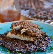 Healthy Fried Chicken & Waffle Latkes