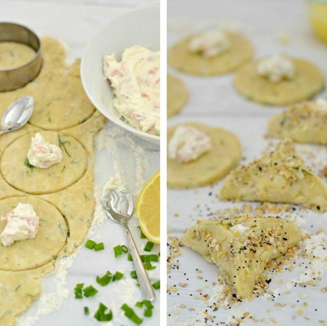 Bagel, Lox & Cream Cheese Hamantaschen