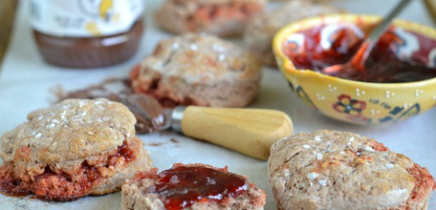 Peanut Butter and Jelly Biscuits