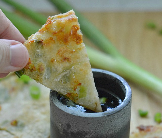 Wasabi Scallion Pancakes