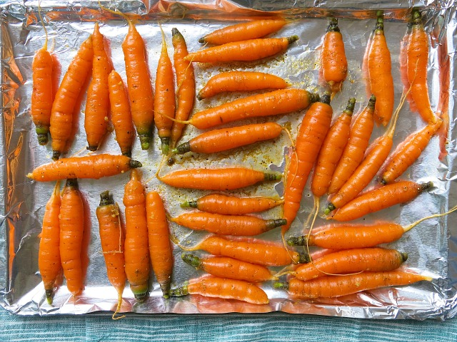 Roasted Carrots with Ras El Hanout and Ginger