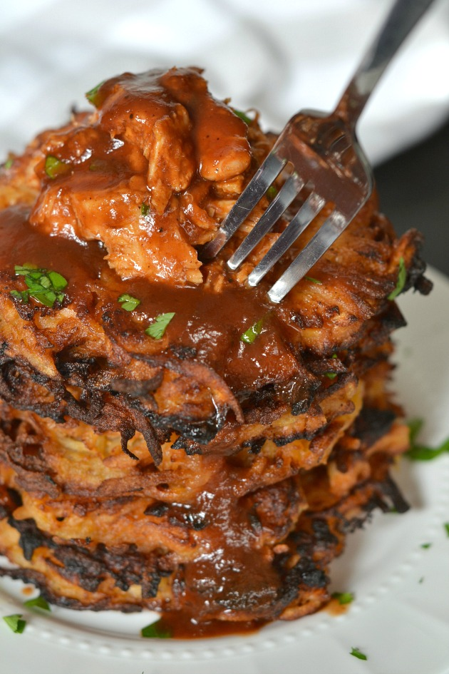 BBQ Chicken Latkes