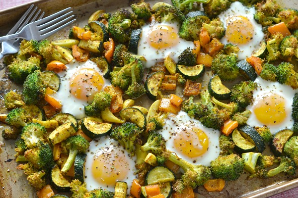 Sheet Pan Broccoli Hash & Eggs
