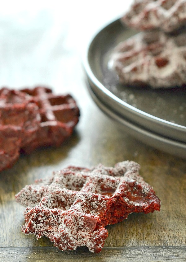 Red Velvet Churro Waffles