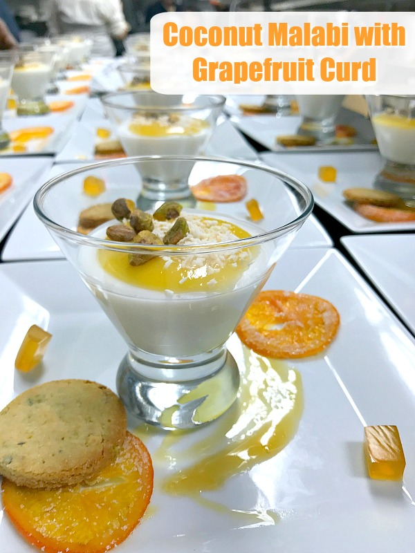 Coconut Malabi with Grapefruit Curd