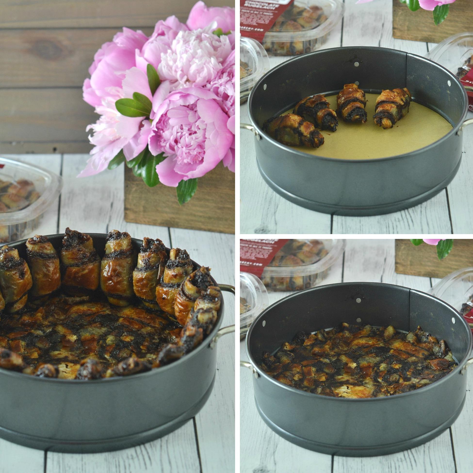 Rugelach Crust Chocolate Swirl Cheesecake