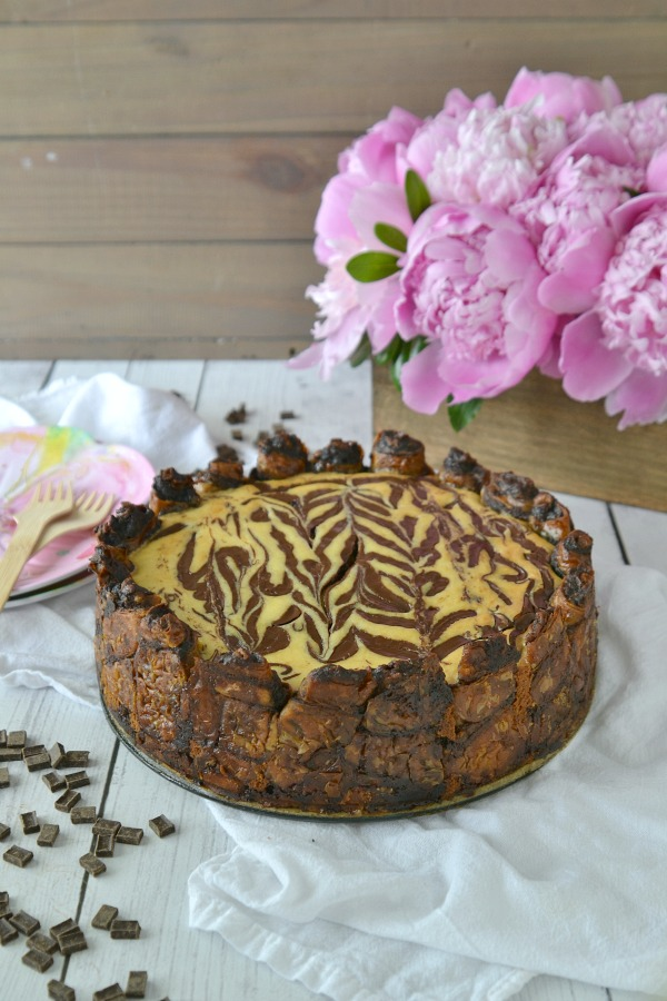 Rugelach Crust Chocolate Swirl Cheesecake