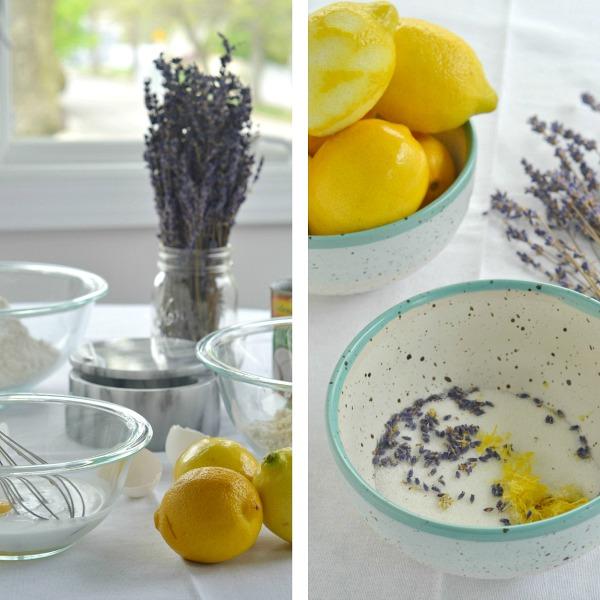 Lemon Lavender Scone Cake