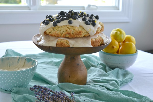 Lemon Lavender Scone Cake