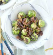 Brussels Sprouts with Date Bacon Crumble
