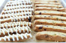 Whole Wheat Cranberry Pistachio Biscotti