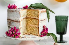 Orange Cardamom Cake with Rose Buttercream