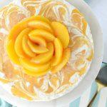 Peaches and Cream Frozen Yogurt Cheesecake