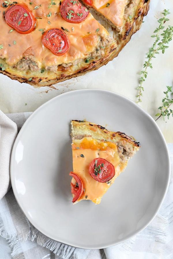 Tuna Melt Spaghetti Squash Pizza