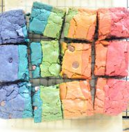 Rainbow Whole Wheat Blondies