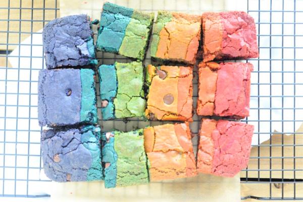 Rainbow Whole Wheat Blondies