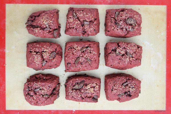 Red Velvet Chocolate Chunk Scones