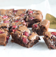 Cranberry Tahini Brownies