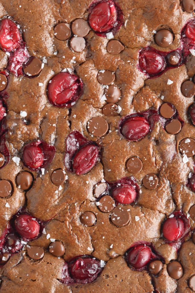 Cranberry Tahini Brownies