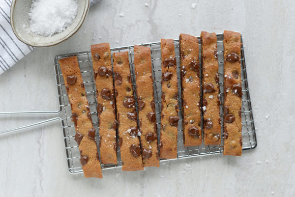 Tahini Chocolate Chip Cookie Sticks